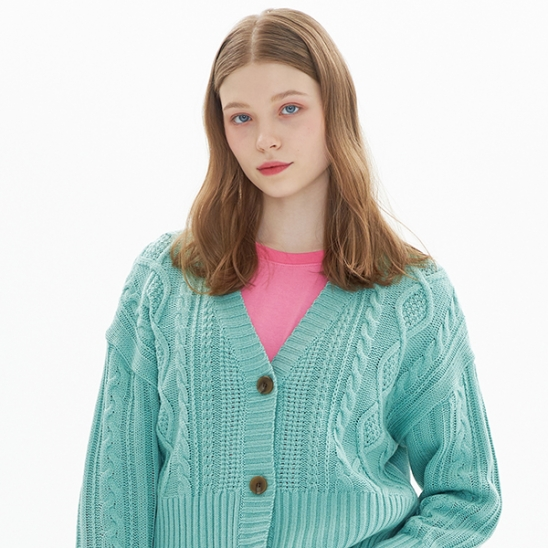 CROPPED CARDIGAN_MINT