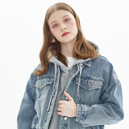 CROPPED DENIM JACKET_INDIGO