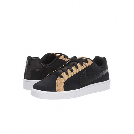 나이키 여성 Court Royale Suede Black Black Met