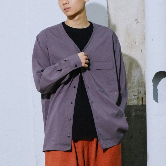 NGRD WOOVEN CARDIGAN - CHARCOAL