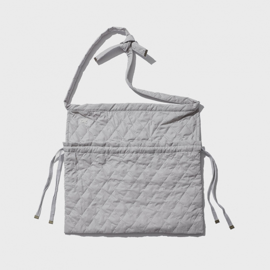 QUILTED APRON BAG grey