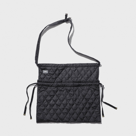 QUILTED APRON BAG black