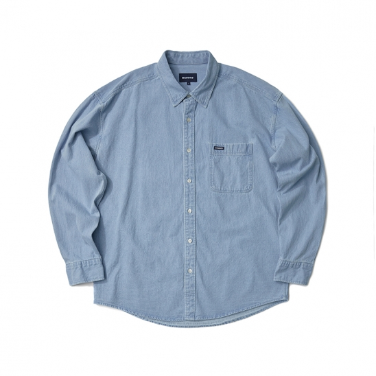 BASIC DENIM SHIRT (L.DENIM)