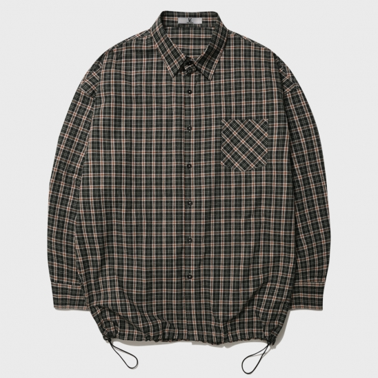 OVERFIT CHECK BANDING SHIRT_GREEN