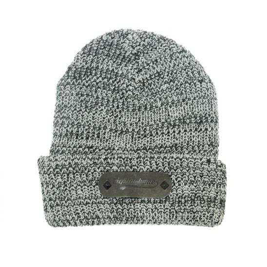 [에잇볼륨] EV Boca Leather Beanie (Gray)