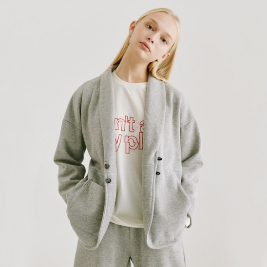 DAMP HOTEL RELAX JACKET_GRAY
