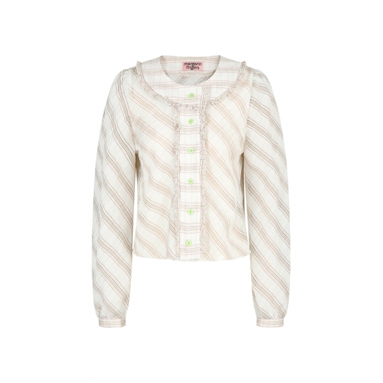 round frill blouse