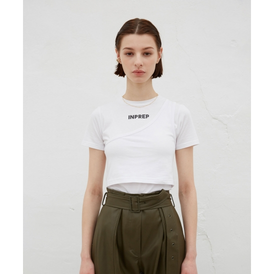 DOUBLE LAYERED CROP TOP (WHITE)
