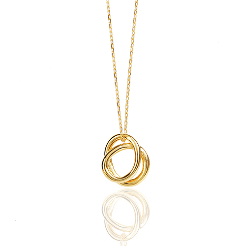 double circle necklace N018
