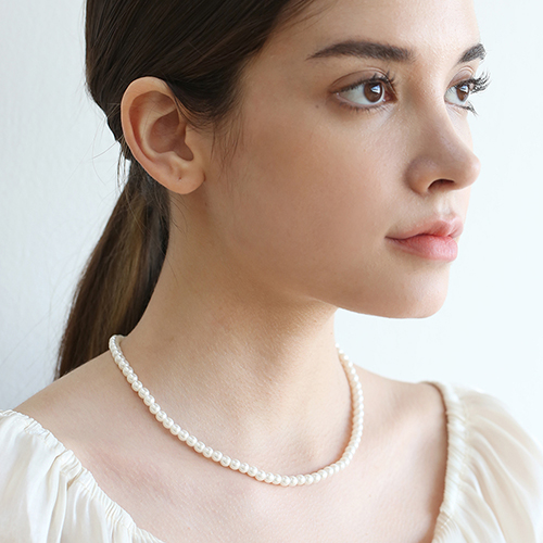middle pearl necklace N022