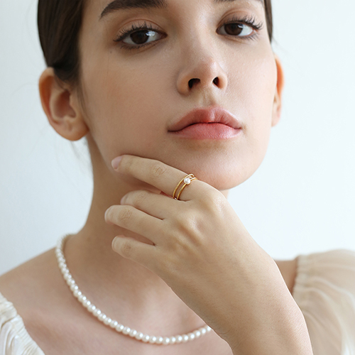 pearl pointed ring R022