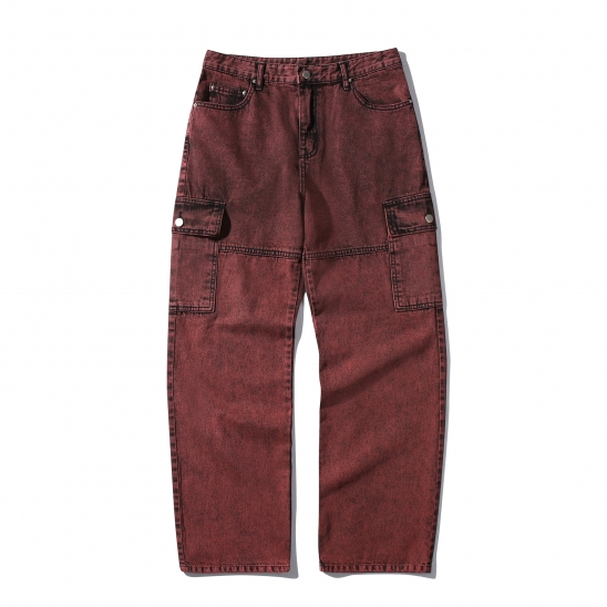 Color Washing Pants(RED)