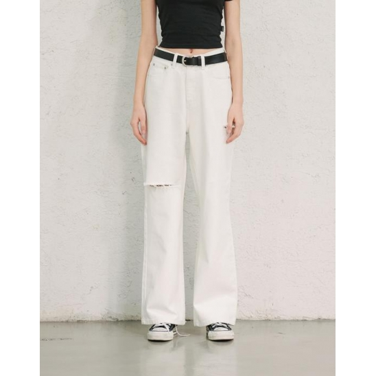 DESTROYED JEANS (WHITE)
