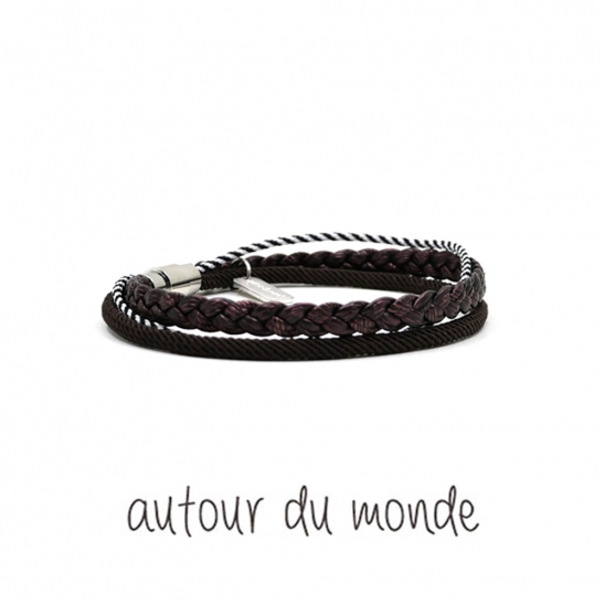 triple braid men bracelet (3colors)