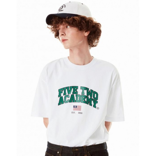 FIVETWO ACADEMY T-SHIRTS [WHITE]