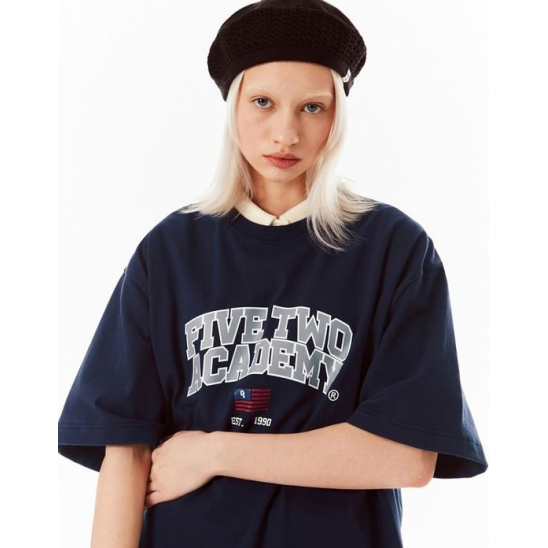 FIVETWO ACADEMY T-SHIRTS [NAVY]