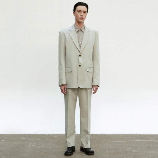 CLASSIC RELAXED SET UP SUIT_LIGHT KHAKI
