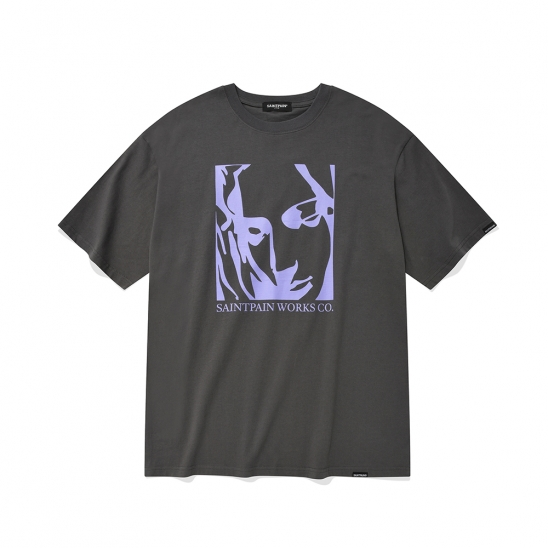 SP OUR LADY OF LOVE T-CHARCOAL
