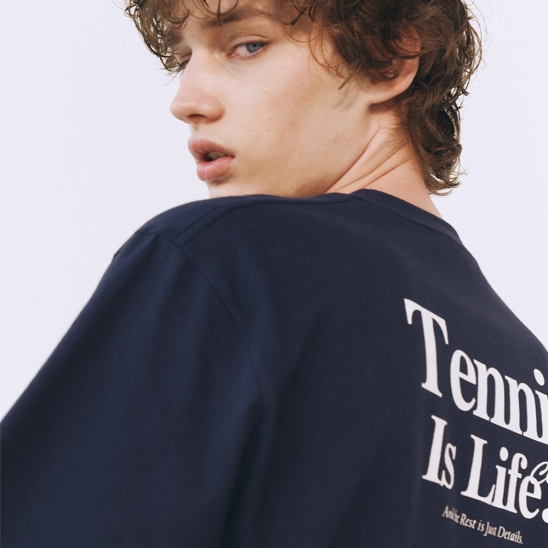 UNISEX SPORTING IS LIFE T-SHIRT FRENCH NAVY_M_UDTS1E114N2