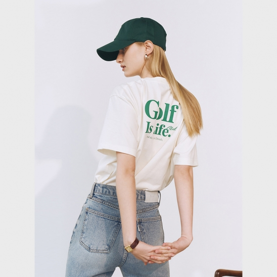 UNISEX SPORTING IS LIFE T-SHIRT BLEACHED CREAM_UDTS1E114CR