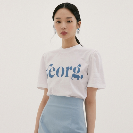 REORG PUFF-SLEEVE T-SHIRTS WHITE