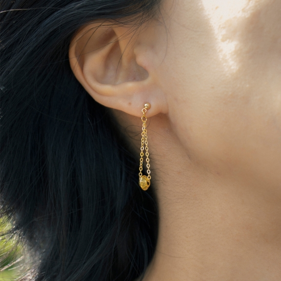 Traditional rondell drop earring