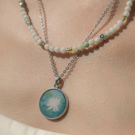Oriental painting necklace no.2