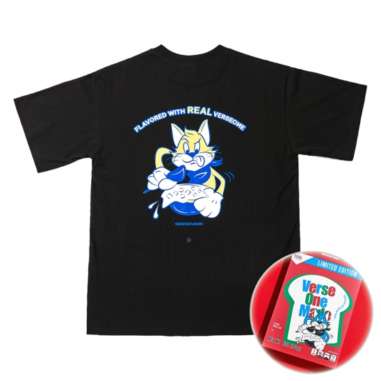 CEREAL T-SHIRTS BLACK(BOX LIMITED EDITION)