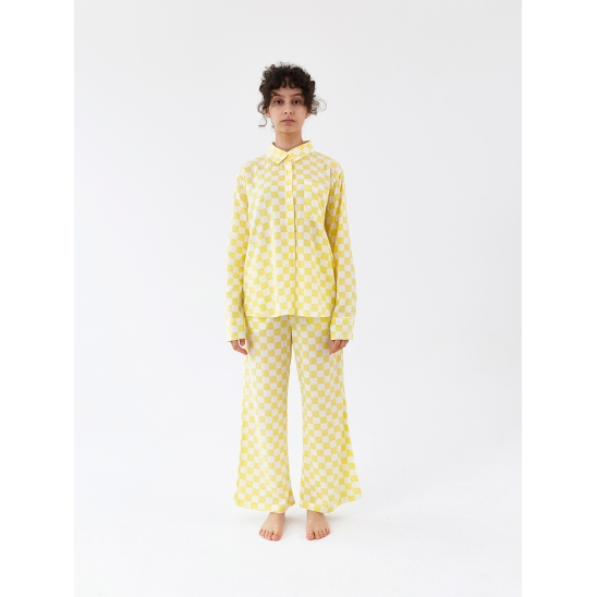 Charging Suit - Checkered Yellow