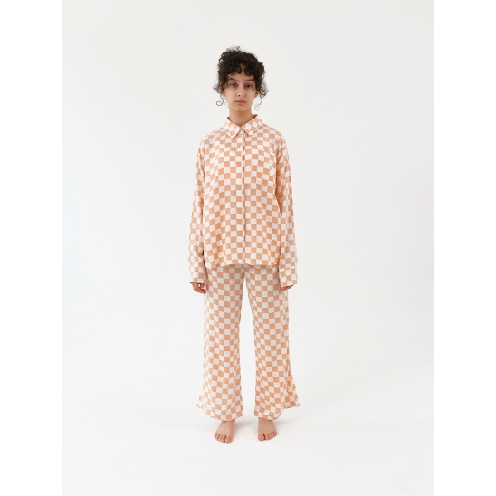 Charging Suit - Checkered Apricot