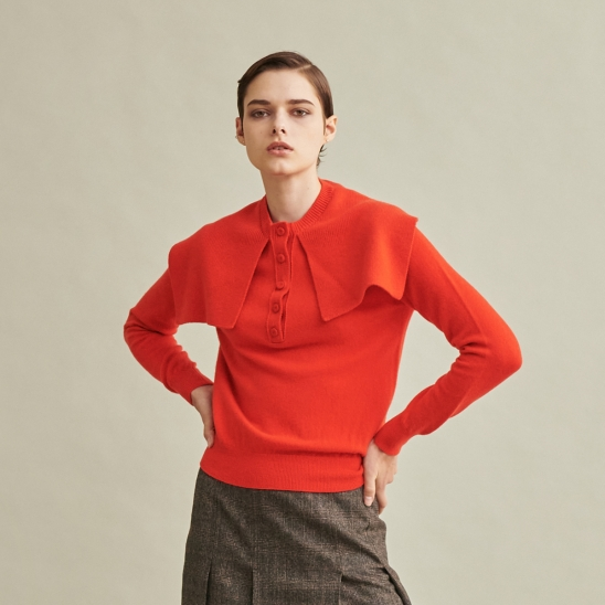 Marin Knit Top Red