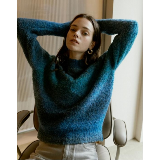 GRADATION COLOR DYED PULLOVER_BLUE