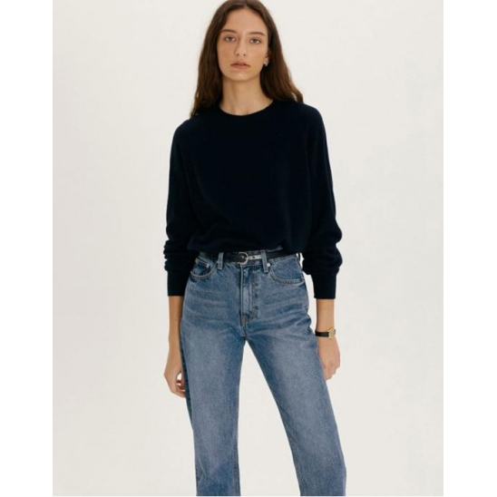 ESSENTIAL CASHMERE KNIT PULLOVER FRENCH NAVY_UDSW1C202N2