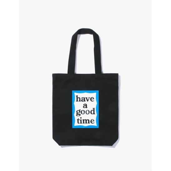 HAVE A GOOD TIME  BLUE FRAME TOTE BLACK / 블루 프레임 토트백 블랙