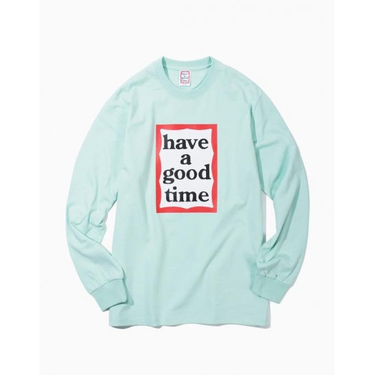 HAVE A GOOD TIME  티셔츠  FRAME L/S TEE MINT