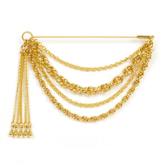 [모드곤] Gold Tassel Brooch
