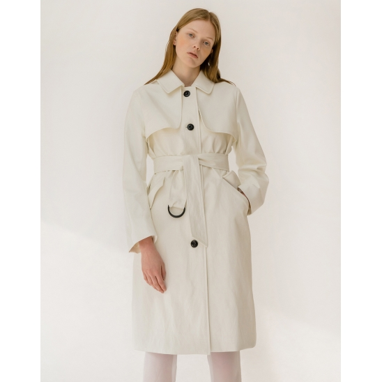 Belted Rain Trench Coat_CT001