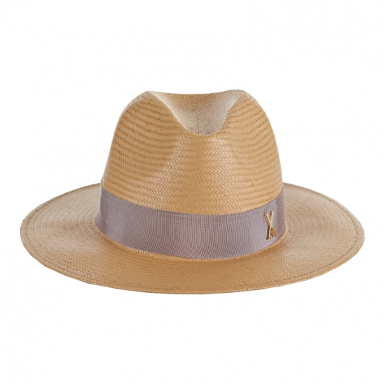 [바잘 모자 파나마햇] Standard brim panama hat brown_right brown