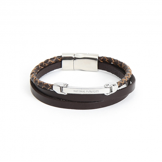 LEATHER LAYER BRACELET_BROWN