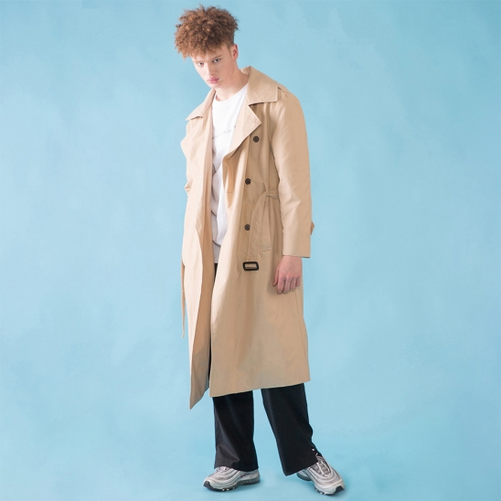 [DUCKDIVE] O.S.L TRENCH COAT_LIGHT BEIGE