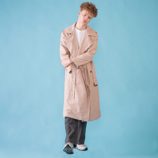 [DUCKDIVE] O.S.L TRENCH COAT_PINK BEIGE