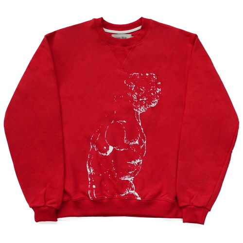 [EASY BUSY] Male Nude Sweatshirts - Red