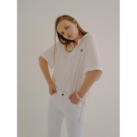 18ss collar T-shirt white