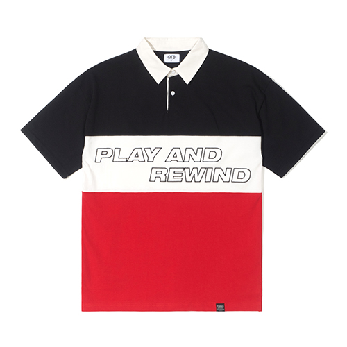 TW Rugby Half Tee (Red)