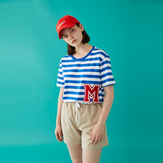 M PATCH STRIPED SS T-SHIRT