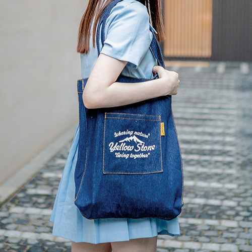 [옐로우스톤] 에코백 DENIM STITCH SHOULDER BAG -YS2028DY DARK NAVY