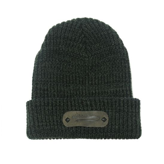 [에잇볼륨] EV Boca Leather Beanie (Olive)