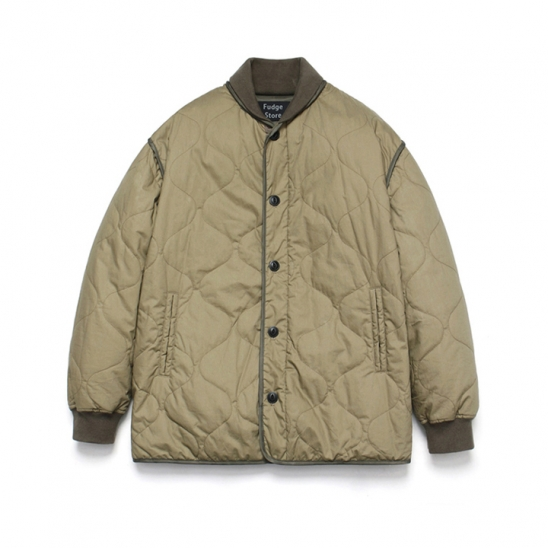 Quilting Stadium Jacket_Khaki