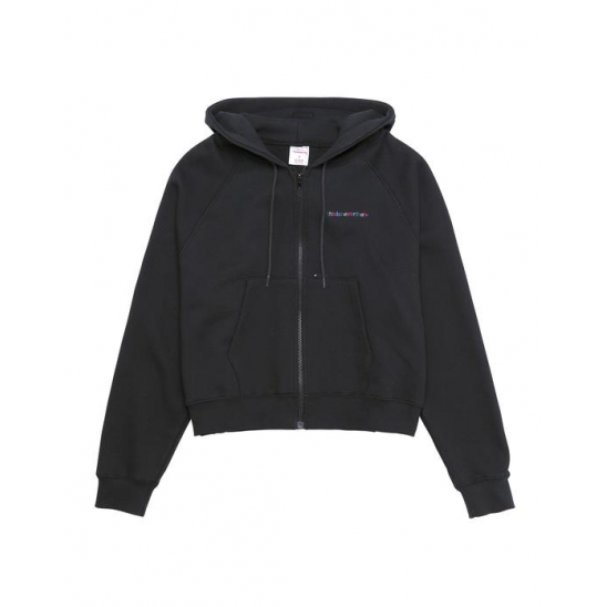 Multi-T-Logo Zip Hood _ Black / 후디 후드집업