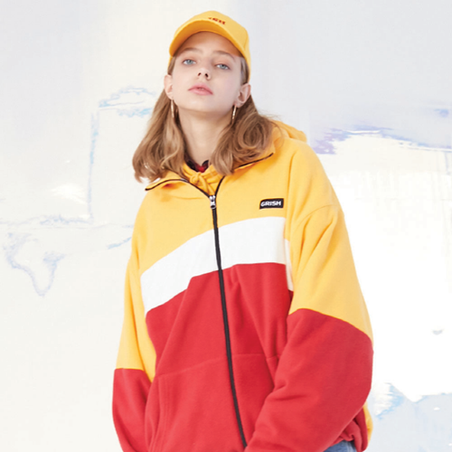 GRISH COLORBLOCK Fleece-(YELLOW) 예약배송 11월26일